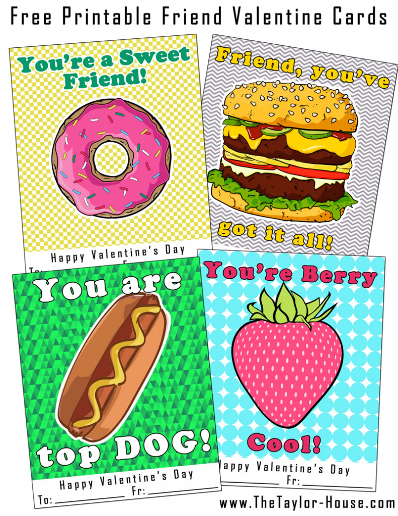 Free Printable Friend Valentine Cards | The Taylor House | Printable Friendship Cards Friends