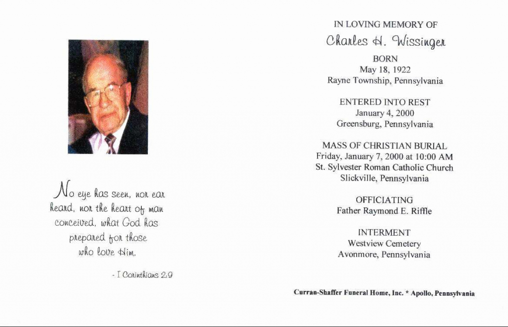Free Printable Funeral Prayer Card Template – Example Templates | Free Printable Funeral Prayer Card Template
