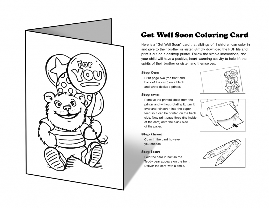 Free Printable Get Well Cards To Color - Printable Cards | Free Printable Get Well Cards To Color