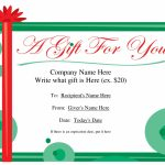 Free Printable Gift Certificate Template | Free Christmas Gift | Printable Gift Card Template