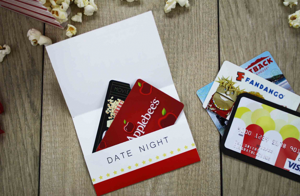 Free Printable} Give Date Night For A Wedding Gift | Gcg | Online Gas Gift Cards Printable
