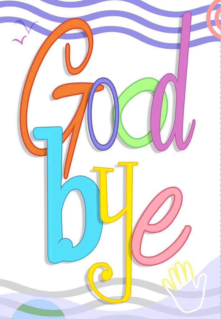 Free Printable Good Bye Greeting Card | Good Ideas | Goodbye Cards | Free Printable Good Luck Cards