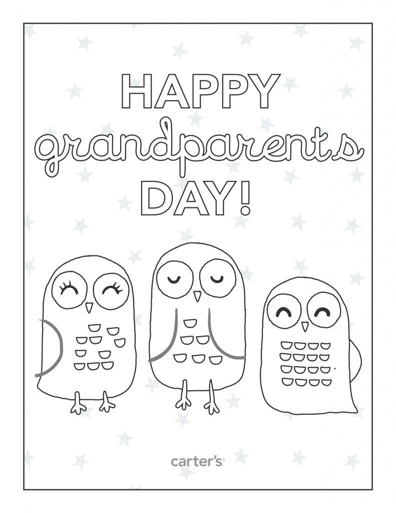 Free Printable Grandparents Day Coloring Pages From Carter's | Grandparents Day Cards Printable