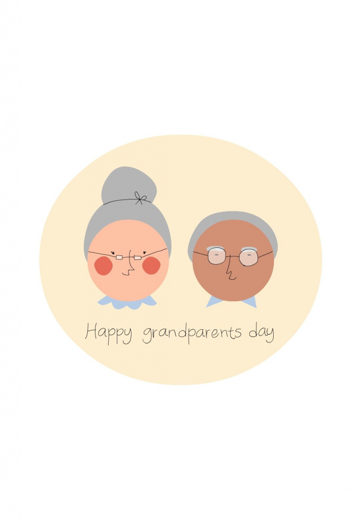Free Printable Grandparents Greeting Card | Grandparents Day | Cards | Christmas Cards For Grandparents Free Printable