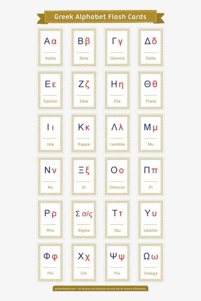 Free Printable Greek Alphabet Flash Cards - Koine Greek Alphabet | Greek Flash Cards Printable