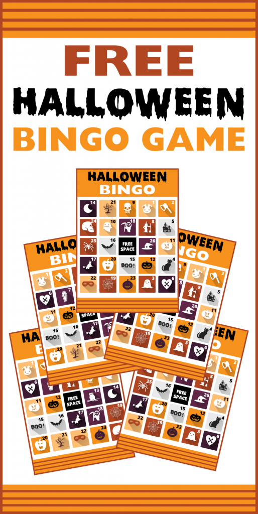 Free Printable Halloween Bingo Cards | Catch My Party | 25 Printable Halloween Bingo Cards