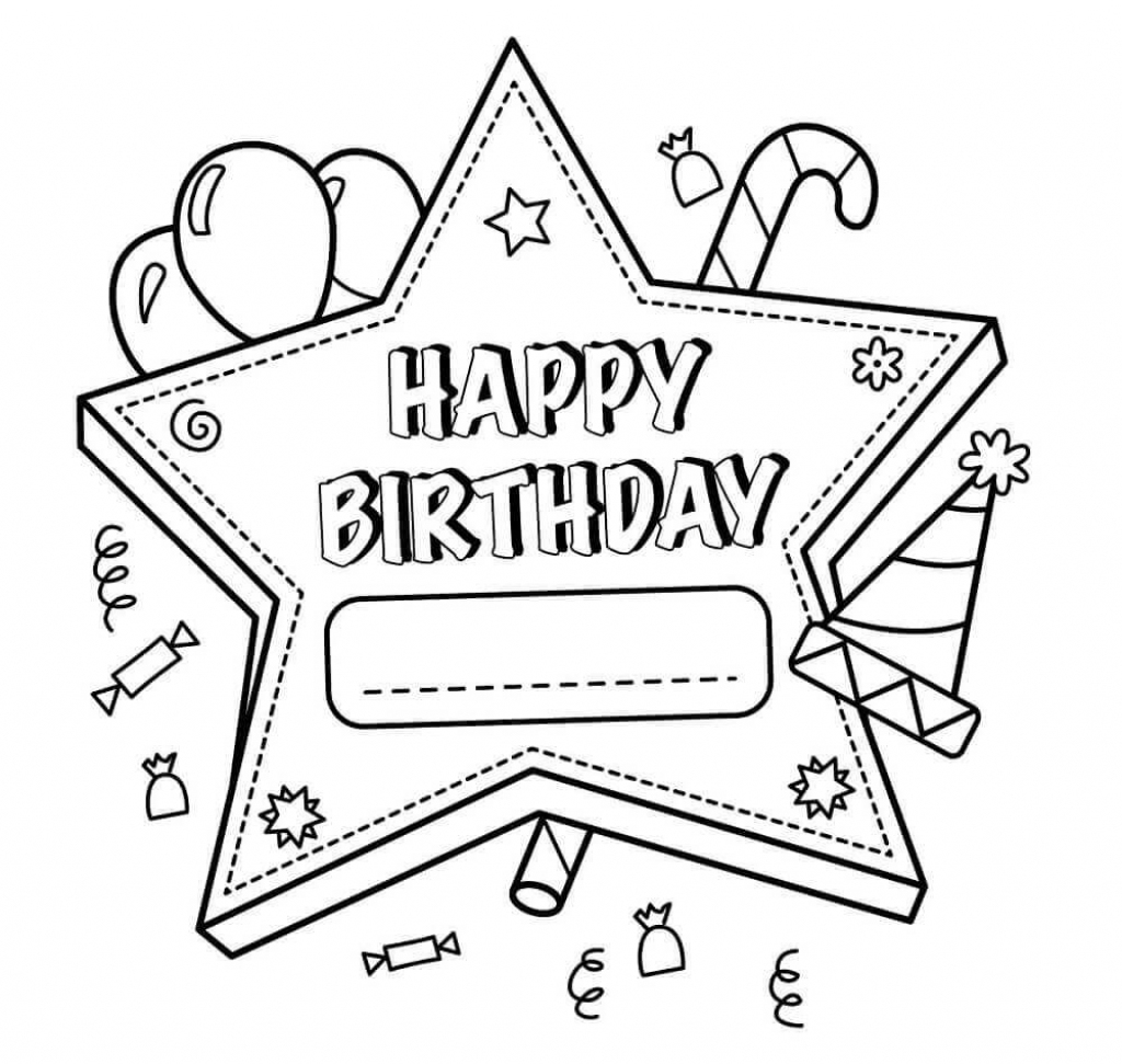 Free Printable Happy Birthday Coloring Pages For Teachers | Birthday | Printable Coloring Birthday Cards