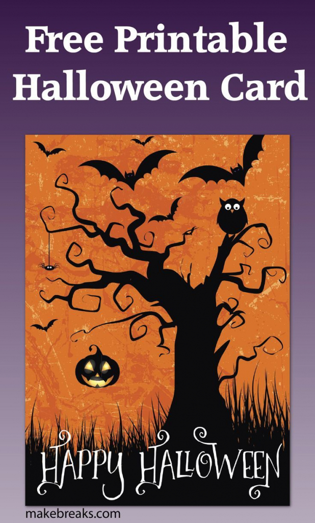Free Printable Happy Halloween Card Or Party Invitation | Halloween | Free Printable Halloween Cards