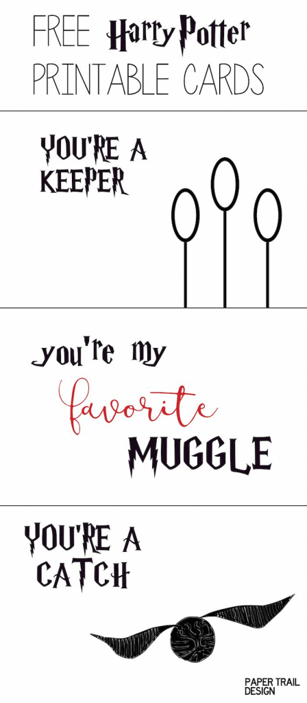 Free Printable: Harry Potter Cards | Valentine's Day *freebies 4 Mom | Harry Potter Birthday Card Printable