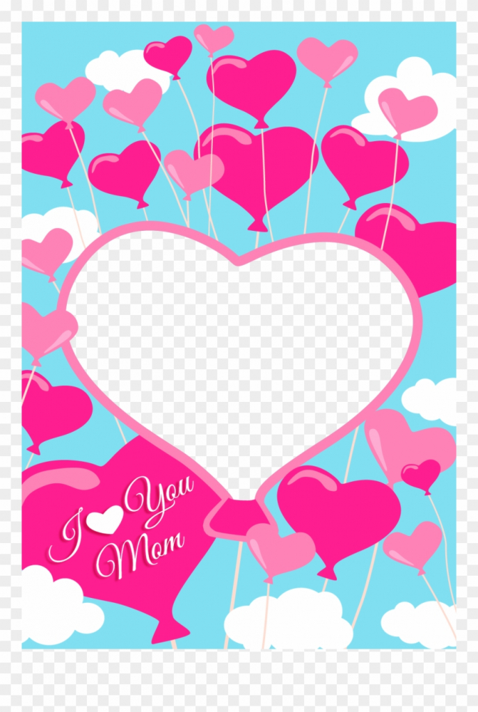 Free Printable I Love You Mom Greeting Card With Add - Mom Greeting | Free Printable Love Greeting Cards