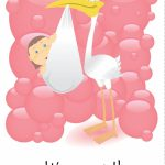 Free Printable 'it's A Girl' Greeting Card | Baby Shower | Baby | Congratulations On Your Baby Girl Free Printable Cards
