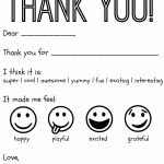 Free Printable Kids Thank You Cards To Color | Thank You Card | Printable Thank You Cards To Color