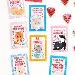 Free Printable Kitten Valentines   Scattered Thoughts Of A Crafty | Free Printable Cat Valentine Cards