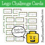 Free Printable Lego Challenge Cards! | Free Printable Kindergarten Task Cards