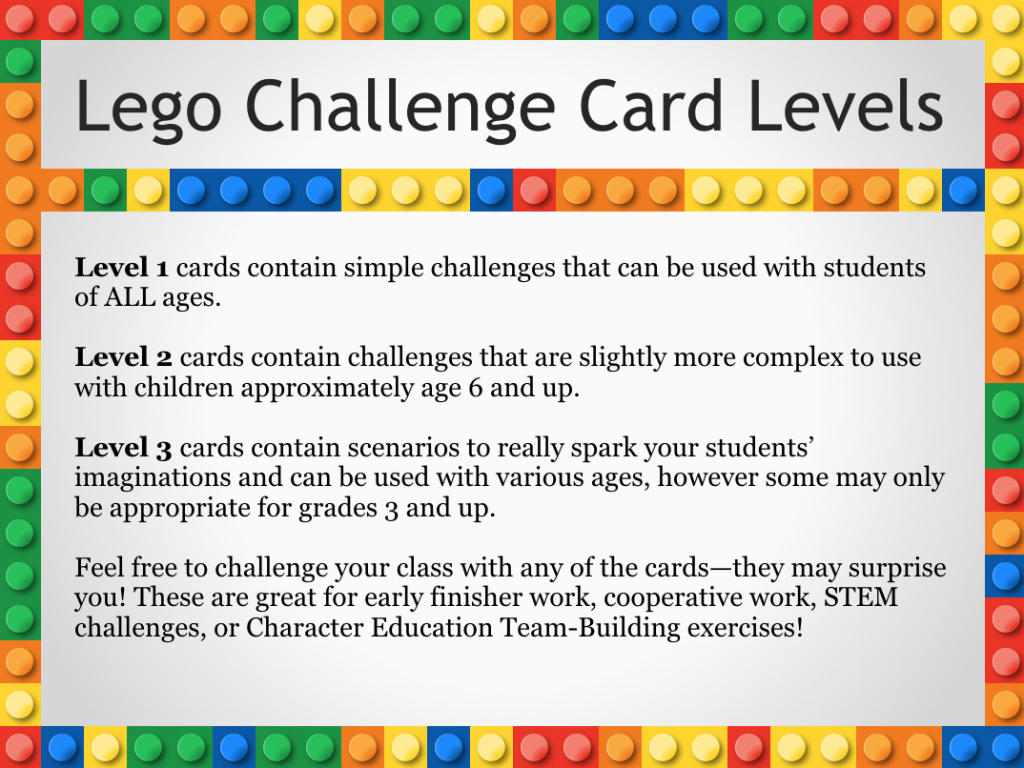 Free Printable Lego Challenge Cards | Shore Points Mom | Free Printable Kindergarten Task Cards