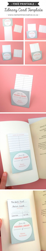 Free Printable Library Cards | Printable Library Card Template
