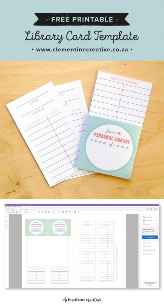 Free Printable Library Cards   Printables   The Best Downloads   Printable Library Card Template