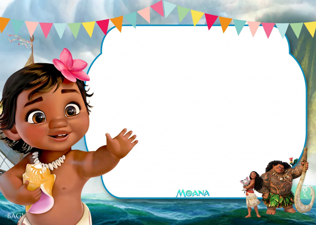 Free Printable Little Moana Birthday And Baby Shower | Moana | Moana Birthday Card Printable