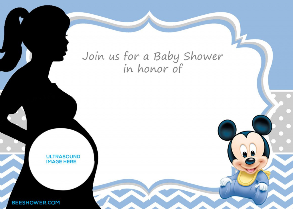 Free Printable Mickey Mouse Baby Shower Invitation Template | Baby | Baby Shower Cards Online Free Printable