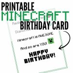 Free Printable Minecraft Birthday Card | Minecraft Stuff | Minecraft | Minecraft Birthday Card Printable