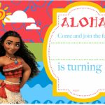 Free Printable Moana Birthday Invitation And Party | Free | Moana Birthday Card Printable