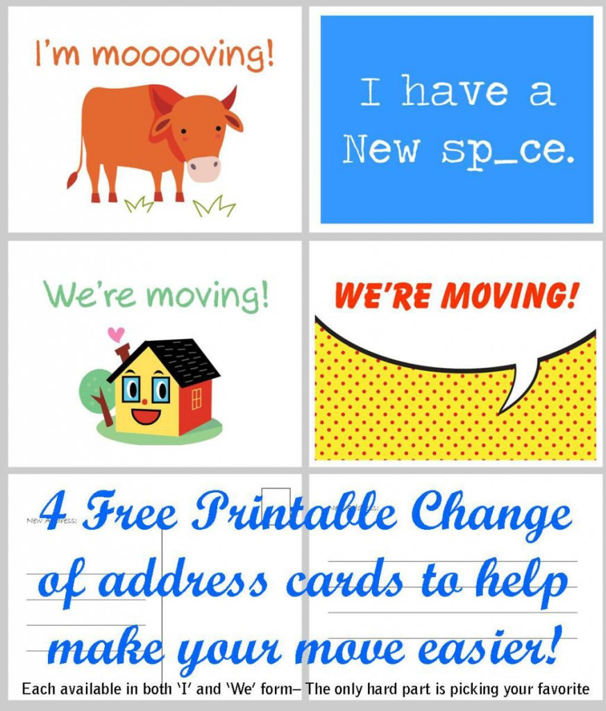 Free Printable Moving Announcement Change Of Address Card | Stuff I | Free Printable Change Of Address Cards