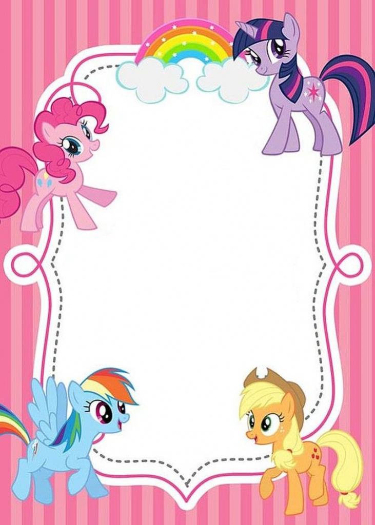 Free Printable My Little Pony Invitations | Invitations Online | My Little Pony Printable Cards