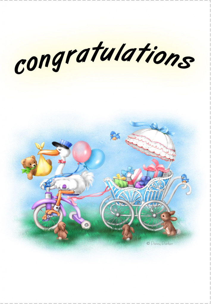 Free Printable New Baby Congratulations Greeting Card | Cards -Baby | Congratulations On Your Baby Girl Free Printable Cards