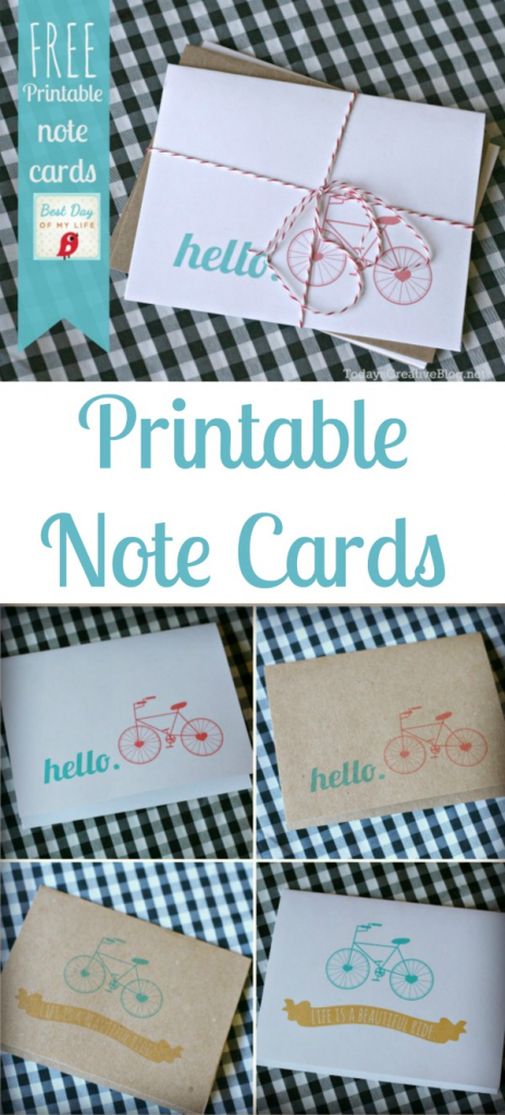 Free Printable Note Cards | Today's Creative Life | Free Printable Note Cards