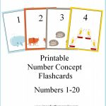 Free Printable Number Concept Flashcards   How To Homeschool For Free | Free Printable Number Cards