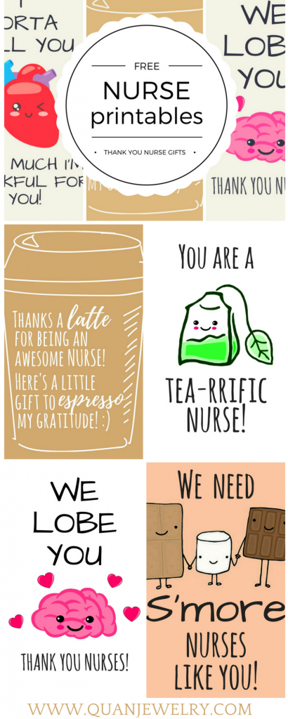 Free Printable Nurse Appreciation Thank You Cards | Gifts For Nurses | Free Printable Funny Thinking Of You Cards