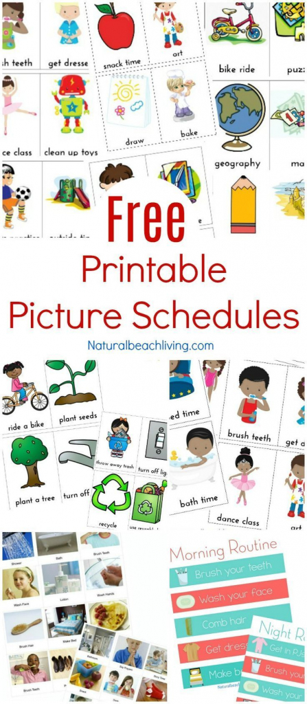 Free Printable Picture Schedule Cards - Visual Schedule Printables | Free Printable Schedule Cards For Preschool