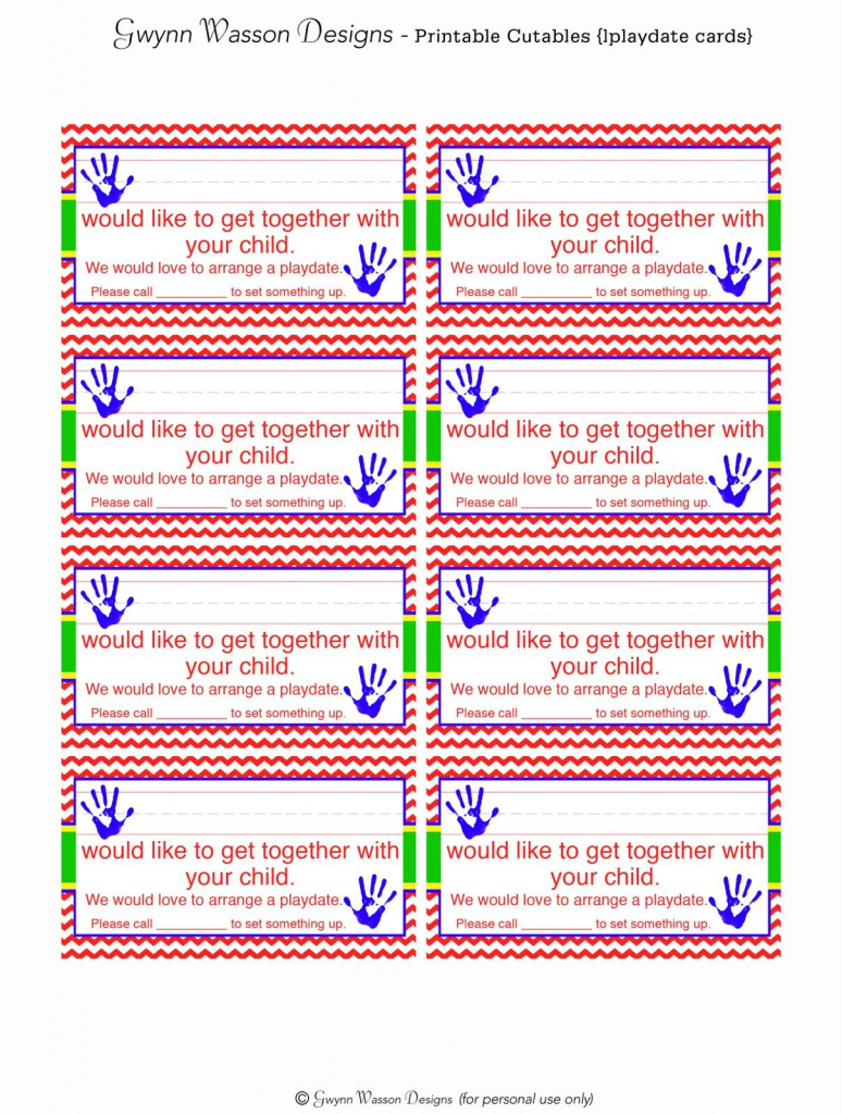 Free Printable Play Date Request Cards & Other Cute Printables | Free Printable Play Date Cards