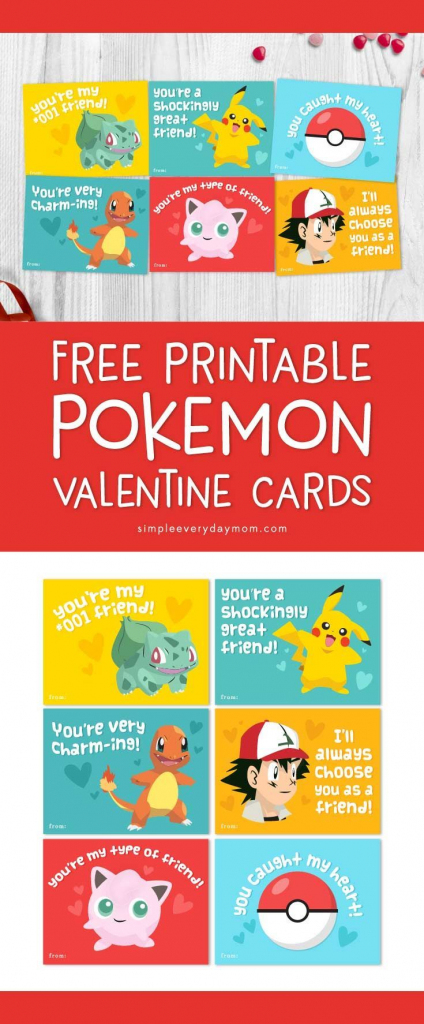 Free Printable Pokemon Valentines Cards Your Kids Will Be Begging | Pokemon Valentine Cards Printable