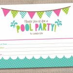 Free Printable Pool Party Birthday Invitations | Party Invitations | Free Printable Pool Party Invitation Cards