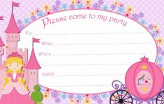 Free Printable Princess Birthday Cards | Papers And Essays | Free Printable Princess Invitation Cards