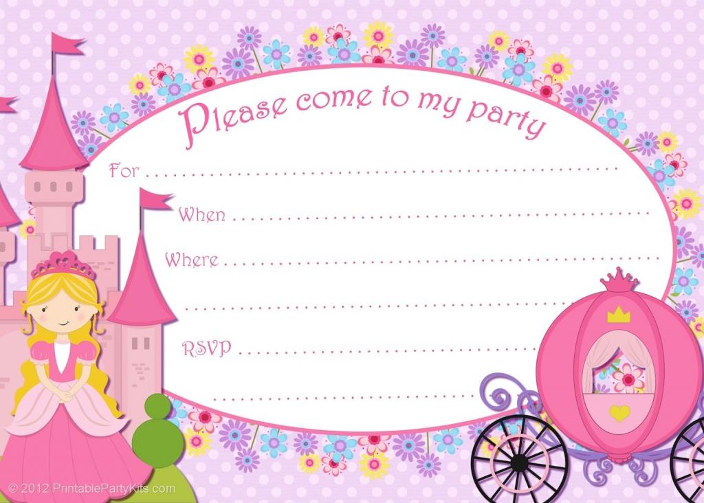 Free Printable Princess Birthday Cards | Papers And Essays | Free Printable Princess Invitation Cards