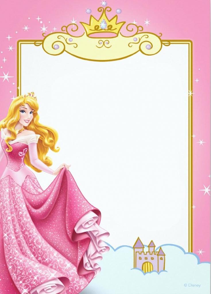 Free Printable Princess Invitation Templates | Princess And My | Free Printable Princess Invitation Cards
