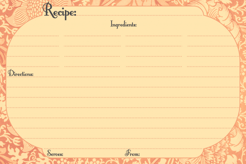 Free Printable Recipe Cards | Call Me Victorian | Printable Vintage Recipe Cards