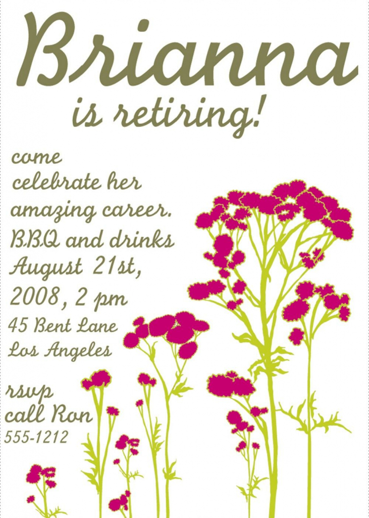 Free Printable Retirement Party Invitations Templates | Betsy's | Free Printable Retirement Cards