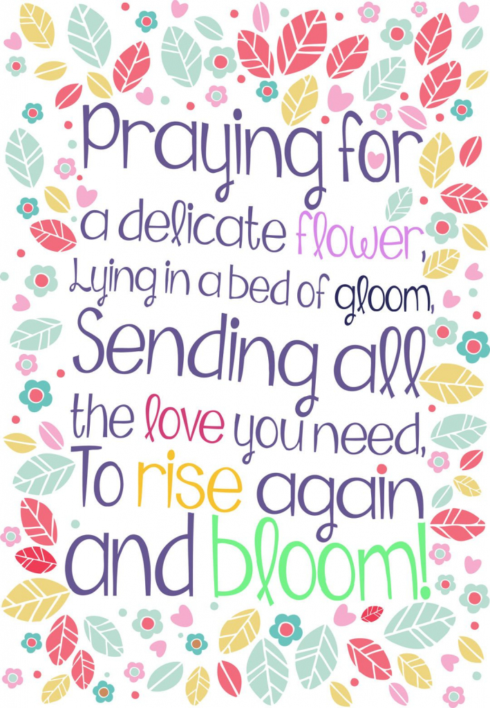 Free #printable 'rise Again And Bloom' Get Well Greeting #card | Get | Get Well Soon Card Printable
