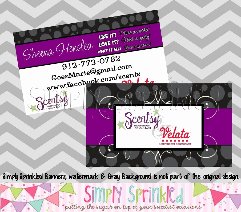Free Printable Scentsy Business Cards Lovely Scentsy Business Card | Free Printable Scentsy Business Cards