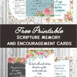 Free Printable Scripture Cards | Church Crafts | Free Printable Scripture Cards