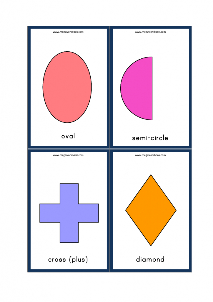 Free Printable Shapes Flashcards For Preschoolers And Kindergarten | Printable Shapes Flash Cards