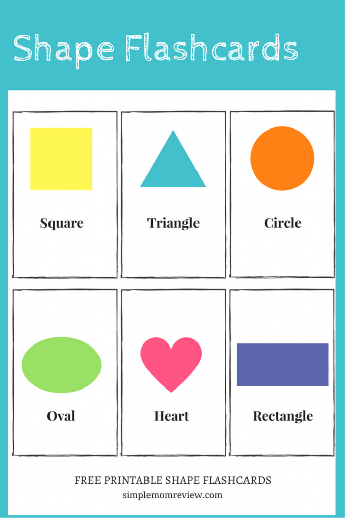 Free Printable: Shapes - Simple Mom Review | Printable Shapes Flash Cards