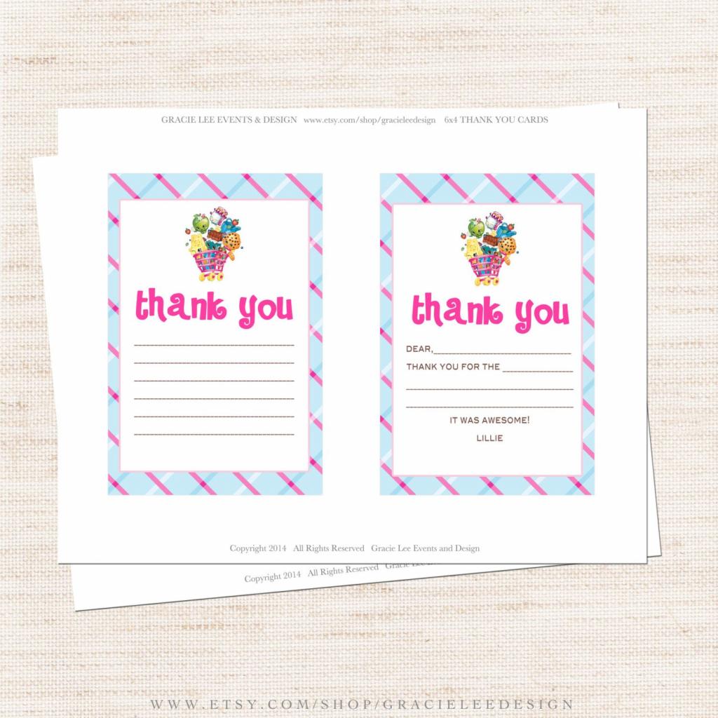 Free Printable Shopkins Thank You Card Halegrafx - Oukas | Free Printable Shopkins Thank You Cards