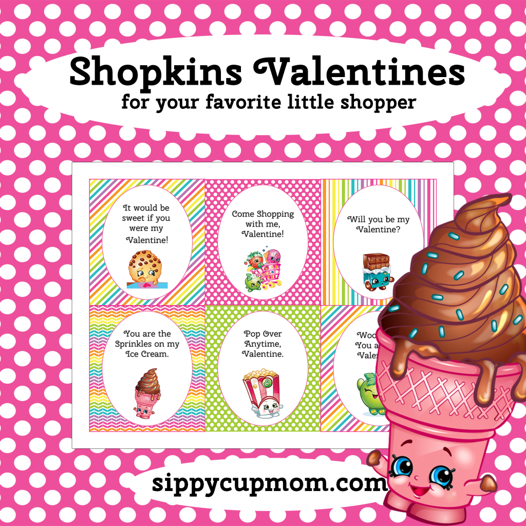 Free Printable Shopkins Valentine's Day Cards - Sippy Cup Mom | Free Printable Valentines Day Cards For Mom And Dad