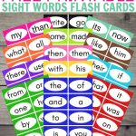 Free Printable Sight Word Flash Cards | Sight Word Activities For | Sight Words Flash Cards Printable