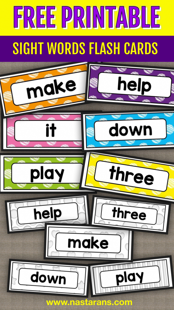 Free Printable Sight Words Flash Cards - Pre-Primer!#sightwords | Nonsense Word Flash Cards Printables
