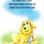 Free Printable   'some Happy Thoughts' Get Well Card | Get Well | Feel Better Card Printable